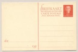 Nederland - 1951 - 12+12 Cent Juliana En Face, Briefkaart G307 - Ongebruikt - Ganzsachen
