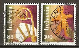 Zu 1185-1186 / Mi 1947-1948 / YT 1873-1874 Timbres De Noël Obl. Voir Description - Switzerland