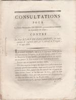 Jugement De Divorce Prononcé Au Tort Du Mari Etard De Bascardon (aide De Camp Gl Dupas) Contre Son épouse Mme De Chivré. - Vieux Papiers