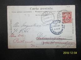 Helvetia: 1906 PPC To USA (#VK10) - 1882-1906 Coat Of Arms, Standing Helvetia & UPU