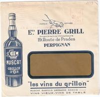 Superbe Enveloppe Illustrée Muscat Grill - Grillon - Marcophilie (Lettres)
