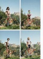 CYCLISME 4 CARTES Edilsavino 1998 UGOLINI SAVINI BANDINI CHIAPPA - Ciclismo
