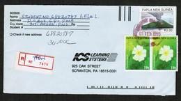 PAPUA NEW GUINEA   SCOTT # 928 (2) & 884 On REGISTERED COVER To SCRANTON, PENN. USA (09/FEB/1999) (OS-442) - Papua New Guinea