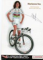 CYCLISME AUTOGRAPHE MARIANNE VOS EN CHAMPIONNE DU MONDE - Cyclisme