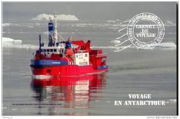 """TAAF 2013 - Carnet De Voyage """"Voyage En Antarctique"""" 16 Timbres Détachables Et 18 Photos Sur Papier Glacé - Booklets"""