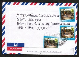PAPUA NEW GUINEA   SCOTT # 961 (3) On AIRMAIL COVER To SCRANTON, PENN. USA (10/SEP/1999) (OS-443) - Papua New Guinea
