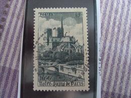 """1947-timbre Oblitéré N° 776   """" Notre Dame De Paris    """"     Cote    3.70    Net     1.25 - France"""