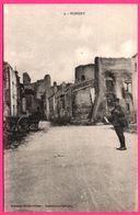 Nomeny - Ruines De L'Entrepôt De Vin ROUSSILLON - Bombardement - Facteur - Attelage - Animée - Edit. REBOULET - Nomeny