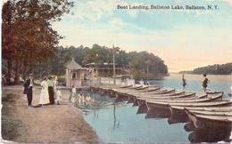 Alte  AK  BALLSTON / New York / USA   - Boat Landing / Ballston Lake -  Gelaufen 1915 - Other
