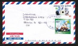 PAPUA NEW GUINEA   SCOTT # 964f & 969 On AIRMAIL COVER To SCRANTON, PENN. USA (7/JUL/2001) (OS-444) - Papua New Guinea