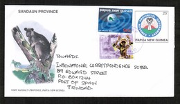 PAPUA NEW GUINEA   SCOTT # 967 & 974 On UPRATED POSTAL STATIONARY COVER To TRINIDAD (2000) (OS-445) - Papúa Nueva Guinea