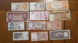 LOT DE 12 BILLETS VOIR SCAN - Billets