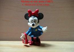 "Kinder 1987 : Minnie Avec Un Sac à Main ""Mickey & Ses Amis"" - Dessins Animés"