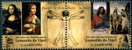 Peru (2018) - Set -   /  Leonardo Da Vinci - Art - Paintings - Pintura - Tableaux - Peintres - Heritage - Art