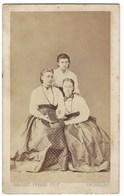 CDV FEMME PHOTO GERUZET FRERES   BRUXELLES FOTO MAN BRUSSEL - Oud (voor 1900)