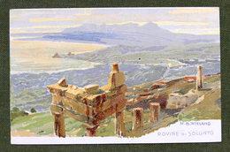 Cartolina Palermo - Rovine Di Solunto - 1900 Ca. - Illustratore Wieland - Palermo