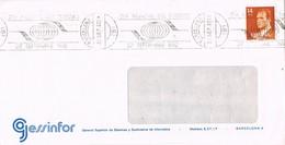 30701. Carta BARCELONA 1982. Rodillo Especial Dia TURISMO - 1981-90 Cartas