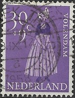 NETHERLANDS 1958 Cultural And Social Relief Fund. Provincial Costumes -  30c.+9c  Volendam FU - Period 1949-1980 (Juliana)