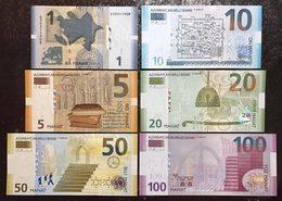 Azerbaigian Set 1 5 10 20 50 100 Manat LOTTO 967 - Azerbaigian