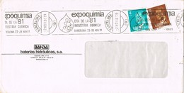 30702. Carta BARCELONA 1981. Rodillo Especial EXPOQUIMIA 81 - 1931-Hoy: 2ª República - ... Juan Carlos I