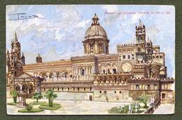 Cartolina Palermo - La Cattedrale Ricostruita - 1910 Ca. - Palermo