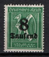 Germania Reich 1923 Unif.254. */MH VF/F - Nuovi