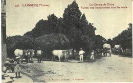 AGRICULTURE .... ATTELAGE .... LAINSECQ .... LE CHAMP DE FOIRE - Attelages