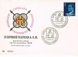 30703. Tarjeta Exposicion BARCELONA 1978. Cuadro Picasso Pintor - 1931-Hoy: 2ª República - ... Juan Carlos I