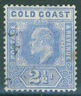 Gold Coast - 1907 2.5d. Blue Sg.62 Used - Gold Coast (...-1957)