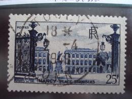 """1945-1949-timbre Oblitéré N°  822  """"  Nancy Bleu 25 F    """"     Cote   1.6     Net     0.55 - France"""