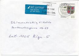 Mi 1661 Solo Slogan Cover - 4 October 1993 Pasewalk To Latvia - BRD