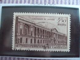 """1945-1949-timbre Oblitéré N°  780  """"    Louvre  """"     Cote   0.50     Net     0.15 - France"""