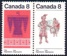 Canada Oiseau Thunderbird Indian Couple Dancing Danes Costumes MNH ** Neuf SC (C05-69ab) - Textile