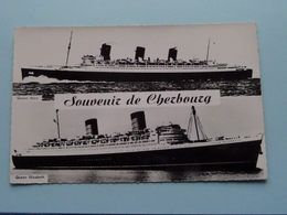 """ QUEEN MARY "" & QUEEN ELIZABETH "" Cherbourg Souvenir ( 1838 ) Anno 19?? ( Voir Photo Details ) ! - Dampfer"