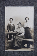 Carte Photo De 3 Femmes. - Femmes