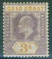 Gold Coast - 1902 3d. Purple Orange Sg.42 - MNH** - Gold Coast (...-1957)