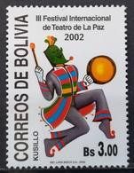 2002 BOLIVIA MNH 3rd International La Paz Drama Festival - Bolivie