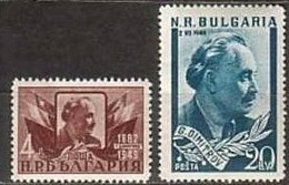 George Dimitrov - Bulgaria / Bulgarie  1949 -  Set (Mi No 697,8) MNH** - Neufs