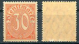 D. Reich Dienst Michel-Nr. 20 Postfrisch - Dienstpost