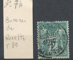 N°74 BUREAU DES RECETTES - 1876-1898 Sage (Type II)