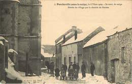 YVELINES PORCHEVILLE Sous La Neige  Entrée Du Village - Porcheville