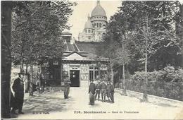 75. PARIS.    MONTMARTRE  GARE DU FUNICULAIRE - France