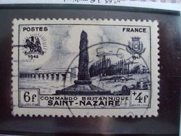 """1945-1949-timbre Oblitéré N°786    """"   St Nazaire   """"     Cote    0.80    Net     0.25 - France"""