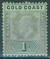 Gold Coast - 1907 1/-. Black/green Sg.65 - MNG - Gold Coast (...-1957)