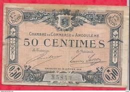 50 Centimes Chambre De Commerce D'Angoulème Du 15/01/1915  Dans L 'état (34) - Chamber Of Commerce