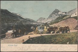 Albula Post, Graubünden, 1907 - Bazar Flury AK - GR Grisons