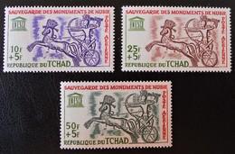 SAUVEGARDE DES MONUMENTS DE NUBIE 1964 - NEUFS ** - YT PA 13/15 - MO 112/14 - Tchad (1960-...)