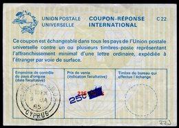 CHYPRE  Coupon Réponse International / International Reply Coupon - Chypre (République)