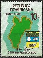 Dominican Republic 1981 Scott C328 MNH Salcedo, Map, Arms - Dominicaine (République)
