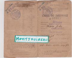 Vieux  Papier :  Calvados : Carpiquet  :  Carte  De  Jardinage -  Jardin - Vieux Papiers